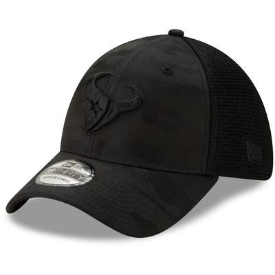 Men's Houston Texans New Era Black Camo Front Neo 39THIRTY Flex Hat