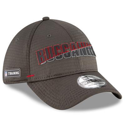 Men's Tampa Bay Buccaneers New Era Pewter 2020 NFL Summer Sideline Official 39THIRTY Flex Hat