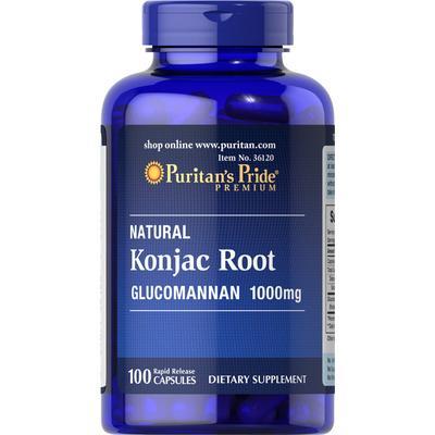 Puritan's Pride 3 Pack of Konjac Root Glucomannan 1000 mg-100-Capsules