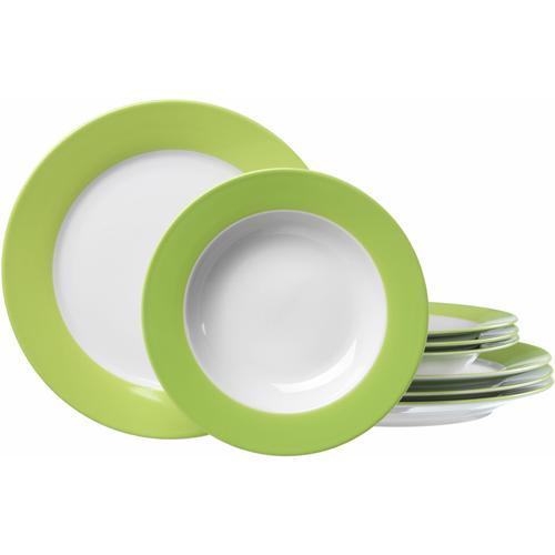 Ritzenhoff & Breker Tafelservice, (Set, 8 tlg.), Spülmaschinengeeignet grün Geschirr-Sets Geschirr, Porzellan Tischaccessoires Haushaltswaren Tafelservice