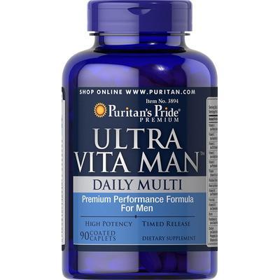 Puritan's Pride 2 Pack of Ultra Vita Man Time Release-90-Caplets