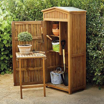 Teak Garden Storage - Frontgate