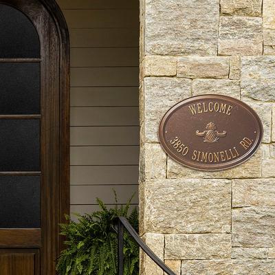 Designer Oval Wall Address Plaqu...