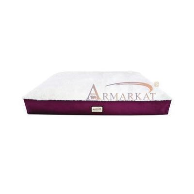 Canvas Pet Mat in Burgundy and Ivory - Size: Large (28 x 40)