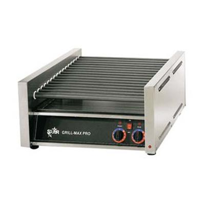 "Star 18"" W Hot Dog Roller Grill With Duratec Non-Stick Rollers (20SC) - Stainless Steel"