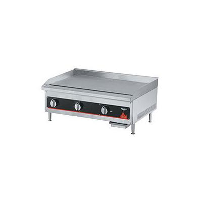 """Vollrath Cayenne Series 36"""" W Flat Top Griddle With Thermostat Controls (40723) - Aluminized Steel"""