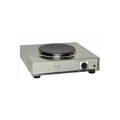 Cadco 220 V Large Countertop Cast Iron Range With 1-Burner (LKR220) - Stainless Steel
