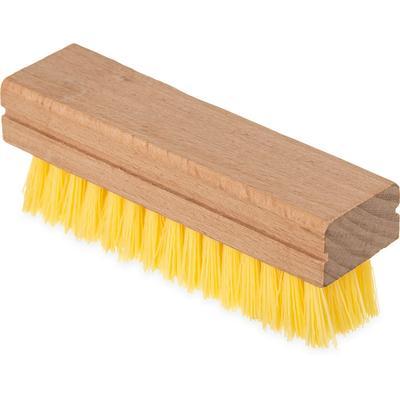 "Carlisle 4550042 5""L Hand & Nail Brush w/ Polypropylene Bristles, Off White"