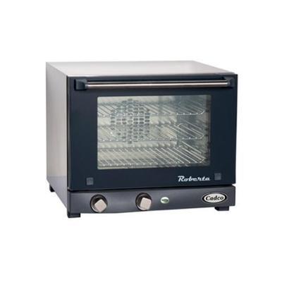 Cadco Countertop Convection Oven w/ Manual Controls, (3) 1/4 Pans, 120 V