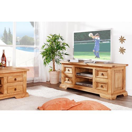 Original Mexico Möbel TV-Tisch Phonotisch Lowboard, Pinie massiv, honig