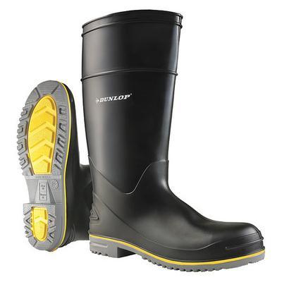 DUNLOP 899080833 Size 8 Men's Steel Rubber Boot, Black