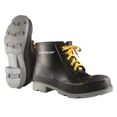 """DUNLOP 861031033 Knee Boots,Size 10,6"""" H,Black,Plain,PR"""