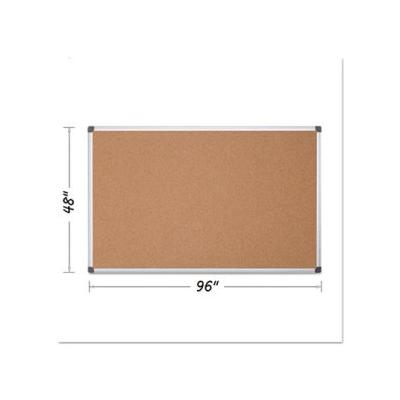 """Mastervision Value Cork Bulletin Board With Aluminum Frame, 48 X 96, Natural (Bvcca211170)"""