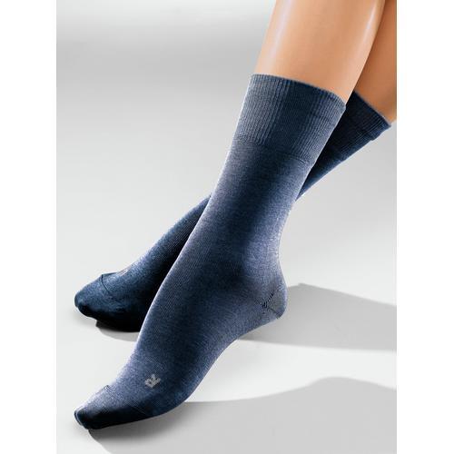 Avena Herren Diabetiker-Socken 2 Paar Blau