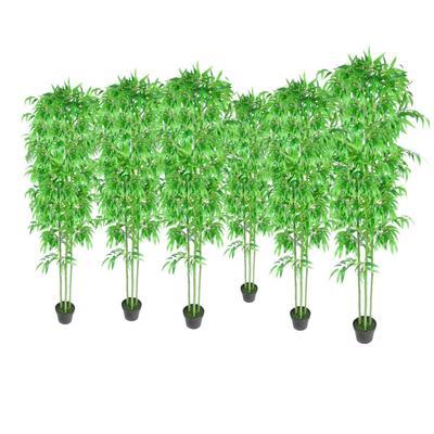 vidaXL Lot de 6 bambous artifici...