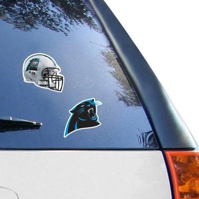"""Carolina Panthers WinCraft 2-Pack 4"""" x Decals"""