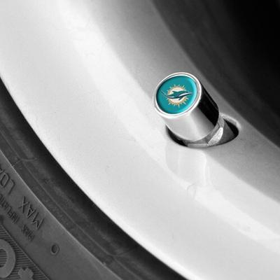 Miami Dolphins Valve Stem Covers