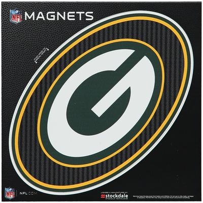 """Green Bay Packers Carbon 6"""" x Oval Full Color Magnet"""