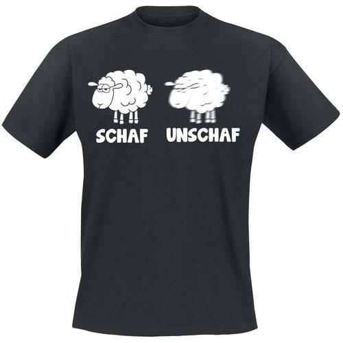 Schaf Unschaf Herren-T-Shirt - schwarz