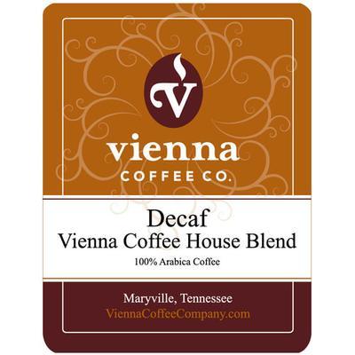 Vienna Coffee WVCHDG-12 12 oz Ground Decaf Coffee, Vienna Coffee House Blend