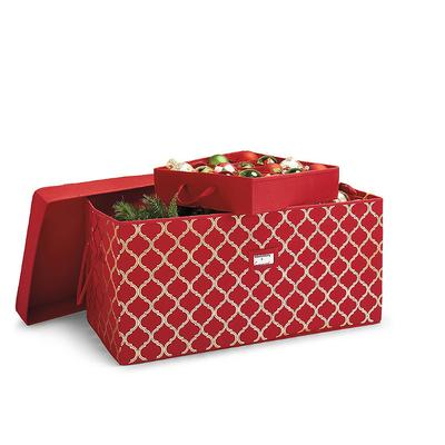 Ornament Storage Trunk - Red - Frontgate - Holiday Storage