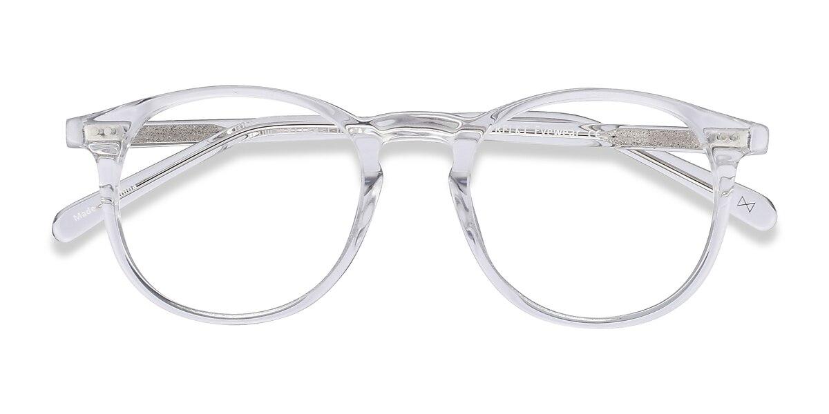 Unisex Round Clear Acetate Prescription eyeglasses - EyeBuydirect's Prism