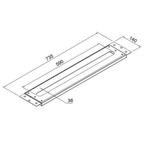 Steinberg Serie 100 Montageplatte für alle Waschtisch- und Wannenrandarmaturen 100 9411