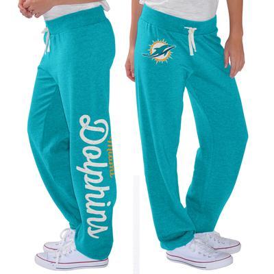 Women's G-III 4Her by Carl Banks Aqua Miami Dolphins Scrimmage Fleece Pants