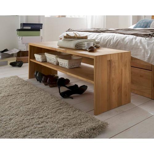 Massivholz Bettbank Merkur Buche natur
