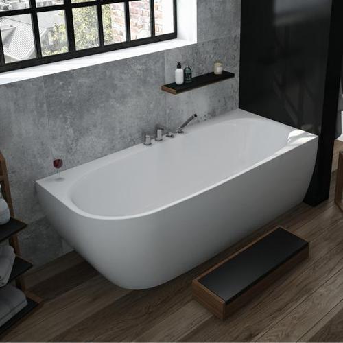 Hoesch iSENSI Eck-Badewanne mit Verkleidung L: 190 B: 90 H: 60 cm, Raumecke rechts ohne Wanneneinlauf 3826.010