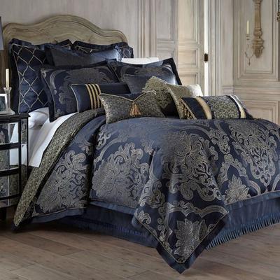Vaughn Comforter Set Navy, King, Navy
