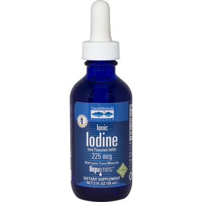 Trace Minerals Research Ionic Iodine 225 mcg-2 fl oz Liquid