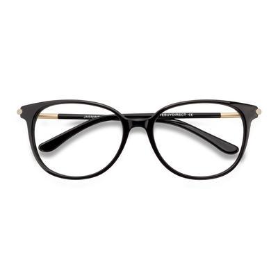 Female's Horn Black Acetate Prescription eyeglasses - EyeBuydirect's Jasmine