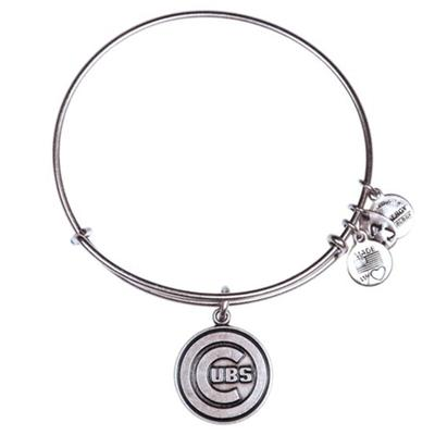 Chicago Cubs Alex and Ani Women's Bracelet - Silver