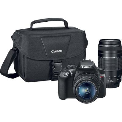 Canon EOS Rebel T6 DSLR Camera with EF-S 18-55mm IS II and EF 75-300mm III lens - 1159C008