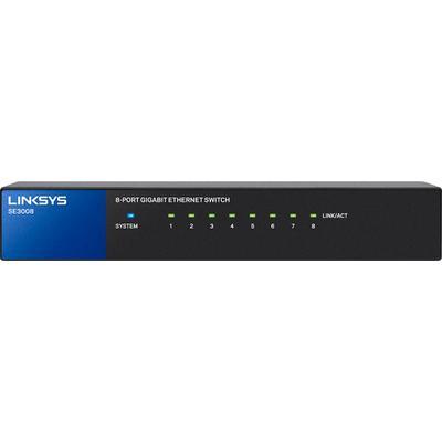 Linksys 8-Port Gigabit Ethernet Switch - Black - SE3008