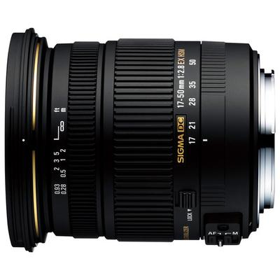 Sigma 17-50mm f/2.8 EX DC HSM Zoom Lens for Select Nikon DSLR Cameras - Black - 583-306