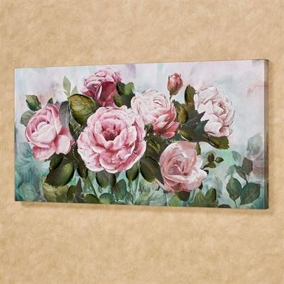 Floral Garden Canvas Wall Art Pink , Pink