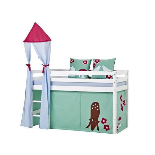 Hoppekids Basic Bett mit Leiter Hochbett mit Leiter 177 cm