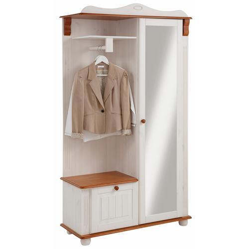 Home affaire Kompaktgarderobe Adele, aus massiver Kiefer weiß Kompaktgarderoben Garderoben