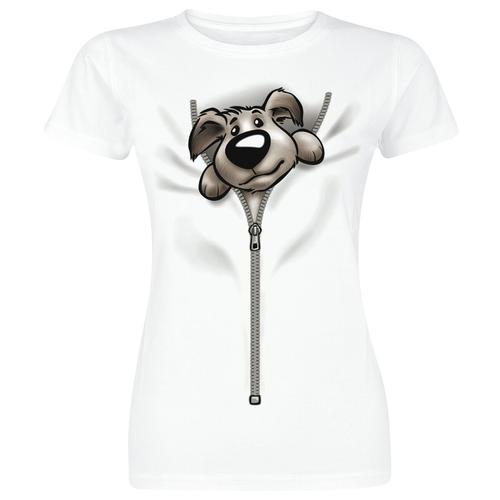 Puppy Damen-T-Shirt - weiß