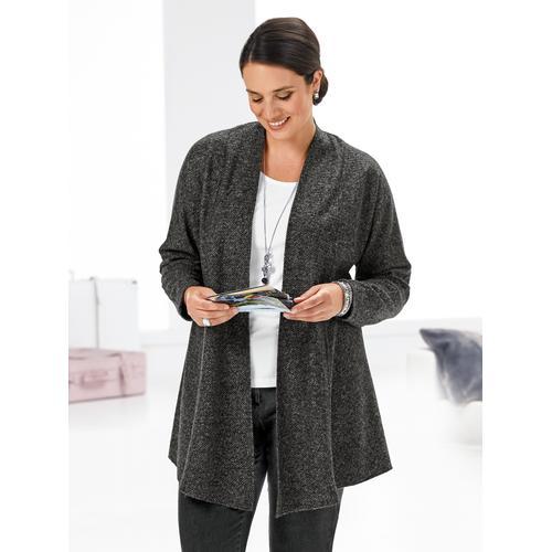 Avena Damen Federgewicht-Strickjacke Grau