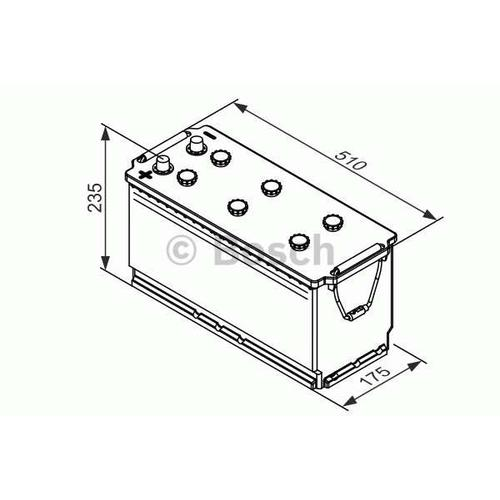 Starterbatterie 'T3 - 12V 120Ah 760A' | Bosch, Batterie-Kapazität: 120 Ah, Höhe: 235 mm ,Kälteprüfstrom EN: 760 A