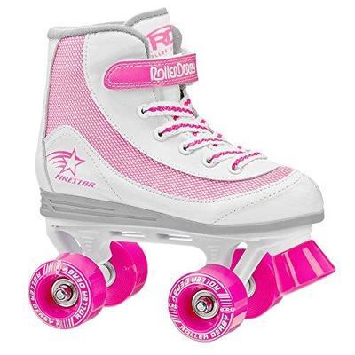 Roller Derby Girls' FireStar Quad Roller Skates, Pink/White