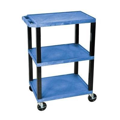 H. Wilson Colorful Plastic Utility Cart - Blue