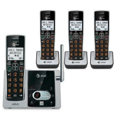 AT&T CL82413 DECT 6.0 Cordless Phone (Cordless - 1 x Phone Line - 3 x Handset - Speakerphone - Answe