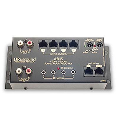 Russound A-H4 Audio Distribution Hub (Surface-mountable, Rack-mountable)