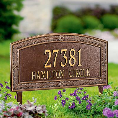 Hamilton Standard Address Plaque - Antique Copper, Wall - Frontgate