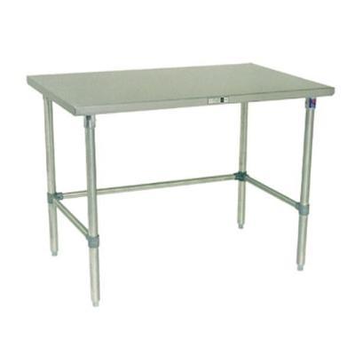 John Boos ST4-3036SBK 14-Gauge Stainless Steel-Top Work Table