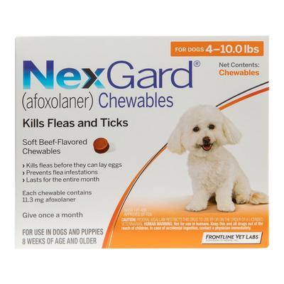 Nexgard Chewables for Small Dogs 4-10lbs (Orange) 11mg 3 CHEWS